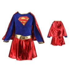 a903584bfc5c8 Kids Child Girls Costume Fancy Dress Superhero Supergirl Comic Book Party  Outfit - Intl