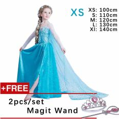 4eb3432e5c3 Kids Cosplay Castillo Elsa Dress Custom Made Movie Princess girls Frozen  Costumes ( XS   100