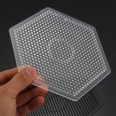 Kids Large Pegboards Perler Bead Hama Fuse Beads Clear Square Design Board Newly - Intl By Five Star Store.