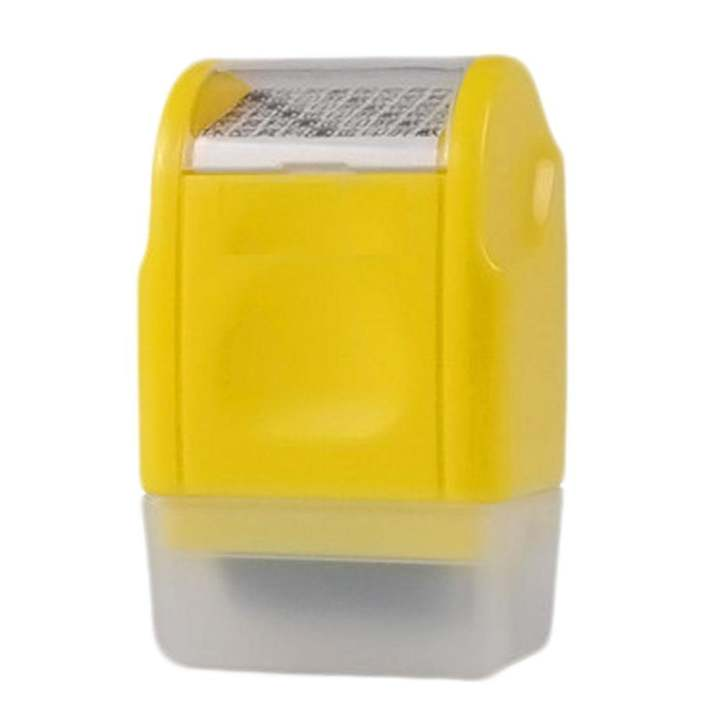 Kuhong 1PC Office Plus Guard Your ID Roller Stamp SelfInking Messy Code Security