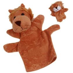 LALANG Cute Kids Plush Animal Finger Toys Hand Puppets Lion Set