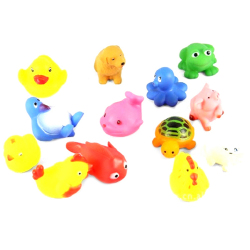 Lalang Kids Bathing Toys Lovely Animal Toys Dolls x 13 (Multicolor)