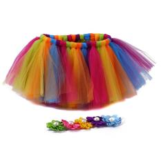 Lalang Newborn Baby Photography Props Infant Costume Outfit Princess Tutu Skirt Flower Headband S 2(multicolor) By Mode Shop.