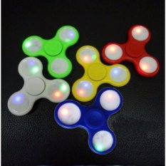 LED Hand Spinner Aluminium alloy Fingertips EDC Finger Glowing Gyro Toys Fidgety Decompression Anti-anxiety