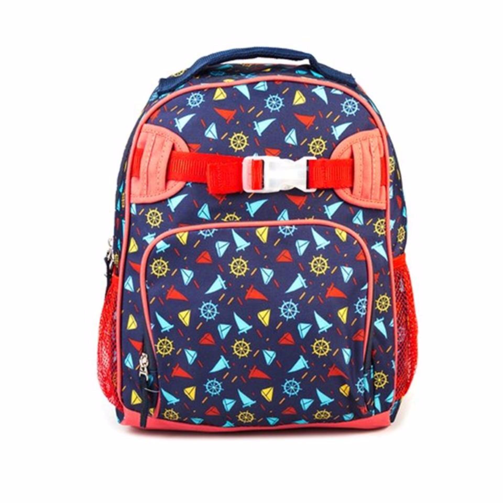 Lily and Tucker Sailor Boy's Medium Backpack (Dark Blue) - thumbnail