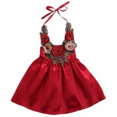 3b8667f96c81 Lovely Toddler Kids Baby Girls Sundress Princess Flowers Dress Formal  Clothes - intl