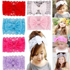 MagicWorld Baby Accessories Decorations 7PCS Baby's Infant Newborn Girls Bow Lace Comfortable Headband Hairbands - intl