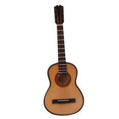 MagiDeal 1/6 Wooden Guitar Model Miniature Musical Instrument for Action Figures Doll - intl
