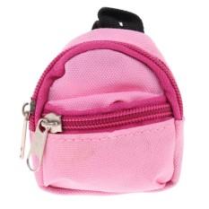 209841337788 MagiDeal Adorable Dolls Pink Zipper Canvas Backpack Shoulder Double Strap  Bag Outfit for Barbie 1