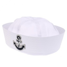 2f97ad7b27514 MagiDeal Navy Hat Cap with Anchor White Sailor White Child Blue - intl