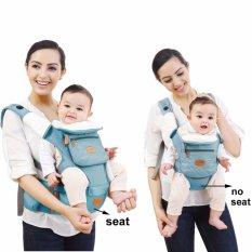 Mambobaby Multifunctional 4 - in - 1 กระเป๋าอุ้มเด็กพร้อมกระเป๋าอุ้มเด็ก (สีฟ้า)