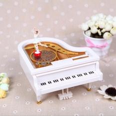 Mechanical Classical Piano Music Box Dancing Ballerina Birthday Christmas Gift White - intl