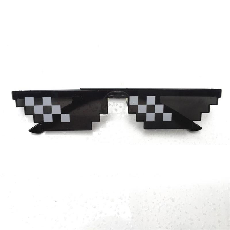 Great-King Men Women Goggles Glasses Thug Life 8-Bit Mlg Pixelated Sunglasses For Minecraft Players By Great-King.
