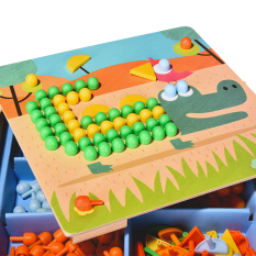 Mi Deer Mideer Children Mosaic Puzzle Creative Dingtalk Music Mushroom Nail Jigsaw Puzzle Early Childhood Cognitive Fight Inserted Game By Taobao Collection.