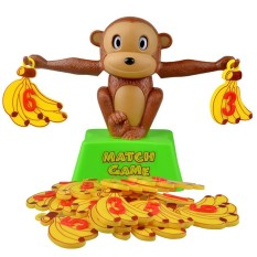 Monkey Match Math Balancing Scale Educational Toy For Child To Learn Add And Subtract Board Game Match Game Number Balance Game - Intl By Smilewill Store.