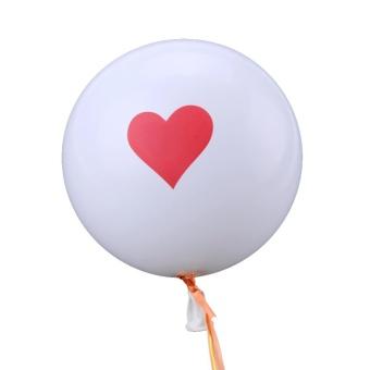 Moonar 10pcs 12 Inch Float Inflatable Air Balls Wedding Christmas Birthday Party Decoration Latex Love Balloon ( #1 ) - intl