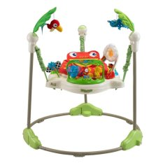 Musical & Lights Rainforest Jumperoo Swing First Step Baby Walker Toddler Chair (green) By Happy Choice.