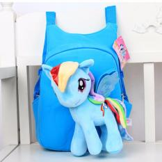 acf1eea1e9 Little Pony Kids Backpack Cute Cartoon Toddler Baby Soft Plush 3D Stuffed  Toy School Bag
