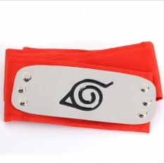 Naruto Forehead Fashionable Headband Cartoon Cosplay Accessories (red) By 101 Bamboo Art Products