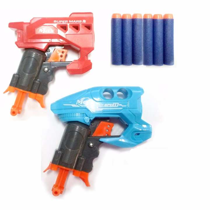 Nerf Gun Super Mars Soft Bullet Toy Gun Bundle Showdown