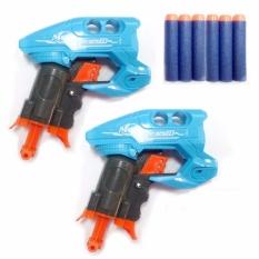 Nerf Gun Super Mars Soft Bullet Toy Gun Set Of 2 Bundle Showdown Blue By Ever Bright.