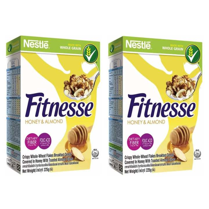 NESTLÉ FITNESSE Honey & Almond 225g PACK OF 2