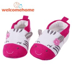 Newborn Baby Cartoon Cat Warm Shoes Soft Sole First Walker Toddler Shoes (Red)-