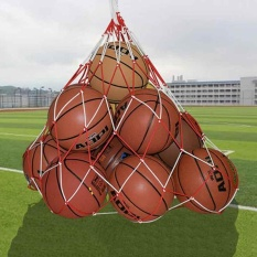 Nylon Red White Red White Jiont Net Bag Ball Carry Mesh Volleyball Basketball - Intl By Suke.