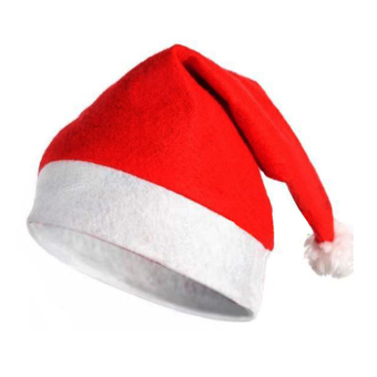 OH Christmas Cap Thick Ultra Soft Plush Santa Claus Holiday Fancy Dress Hat