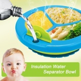 Oscar Store Practical Baby Feeding Supplies Toddler Boys Girls Dining Set Feeding Plate Bowl Divided Plate With Suction - intl image on snachetto.com
