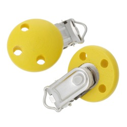 Pacifier and Soother Clips Set of 5 (Yellow)