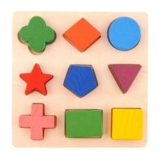 Palight Kids Baby Wooden Learning Geometry Educational Toys Puzzle Montessori Early Learning (style:1) - Intl - Intl By Palight.