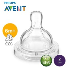 Philips Avent Fast Flow Teats 4holes – 2pcs By Lazada Retail Philips Avent.