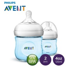 Philips Avent Natural 4oz Bottle Twin Pack - Blue By Lazada Retail Philips Avent.