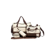 Phoebes 5in1 Baby Diaper Mommy Bag Set (brown) By Phoebes.