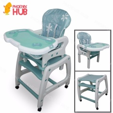 PhoenixHub SQ AX01 Multi Functional Adjustable 3 In 1 Baby High Chair Study Table