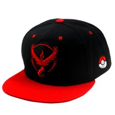 Pokemon Go Team Valor Unisex Fashionable Snapback Cosplay Cap (black/red) By Anime Zone.