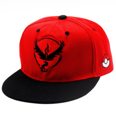 Pokemon Go Team Valor Unisex Fashionable Snapback Cosplay Cap (red/black) By Anime Zone.