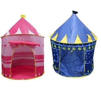 Portable Folding Castle Tent Set of 2 (Multicolor)