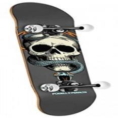 Powell-Peralta Black Light Skull and Snake Complete Skateboard Gray 94c7f4d3481