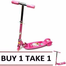 Quality Ride-On Push Scooter For Kids With Laser Wheel (pink) Buy1 Take1 By Xzycollection.