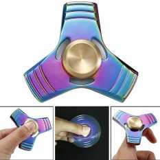 Rainbow EDC Hand Spinner Tri Fidget Focus Desk Toys Stocking Stuffer Kids/Adult - intl