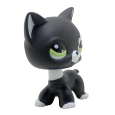 Rare Black Cat Blue Eyes Cute Kitten Littlest Pet Shop Toys AnimalsKids Gift - intl