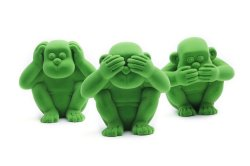 Rubbabu Apes of Wisdom Set of 3 (Green)