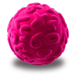 Rubbabu Numeral Ball (Pink)