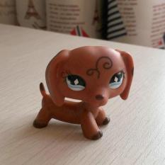 ... Original 1pc LPS cute toys Lovely Pet shop animal Yellow orange pattern Leopardus pardalis Cat green