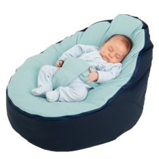 Seville Canvas Baby Infant Bean Bag Snuggle Bed Portable Seat Without Filling - Intl By Seville.