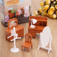 Sofa Bedroom Bathroom Dining Table Miniatures Furniture For Sylvanian  Families   Intl