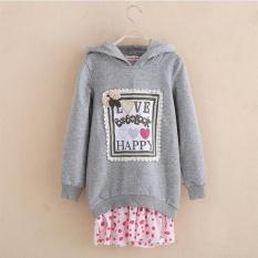 Spring Girl's Fleece Soft Cotton Clothing For Children New Lovely Fleece For Spring - Intl By Ulive.
