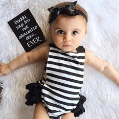 Starmall Kidlove Newborn Girls Clothes Lace Jumpsuit Rompers for Baby + Headband - intl